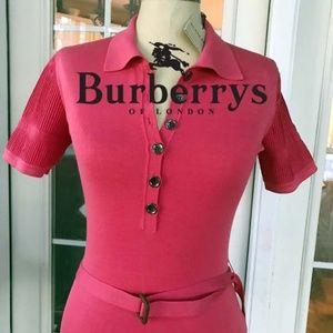 🦋 Gorgeous Burberry Belt Top NWT 78% SILK